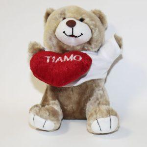 Orsetto Teddy alt. 23 cm. con cuore Love-5